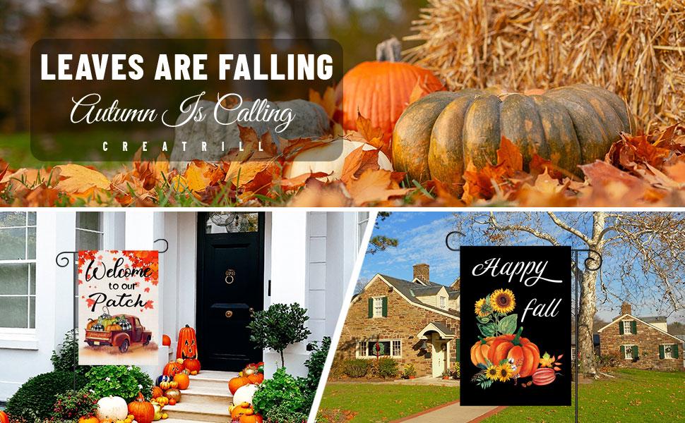 fall flag garden