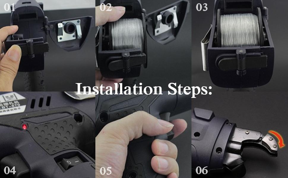 Handheld Electric Rechargeable Tier Tying Binding Tool