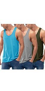 Men's 3 Pack Cotton Tank Tops