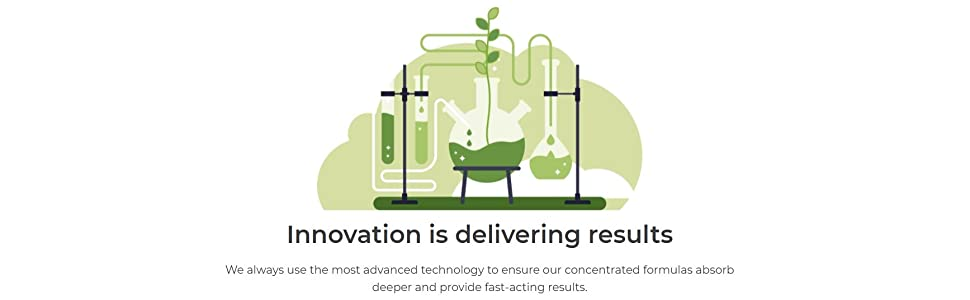 innovation delivering results fast acting results concentrated formulas fast absorption