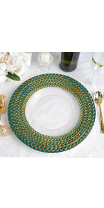 Braided Rim Charger Plate