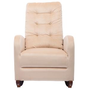velvet rocking chair