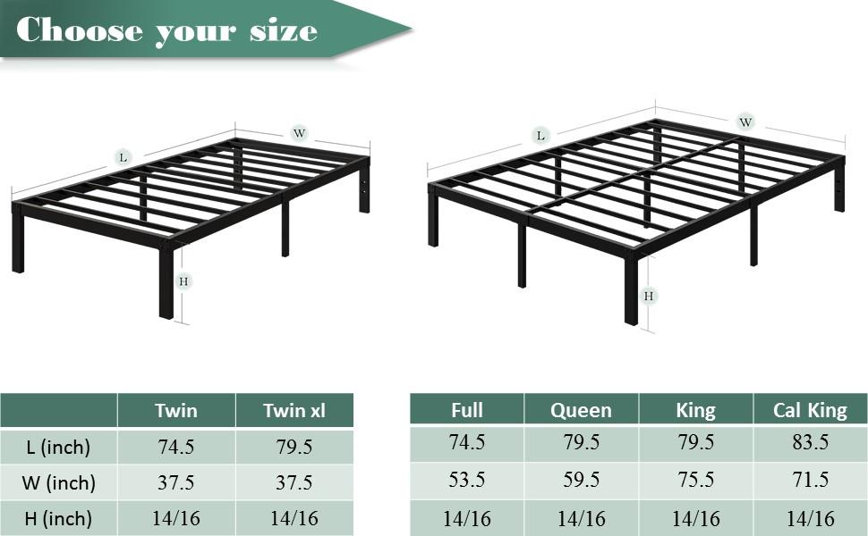 16 bed frame