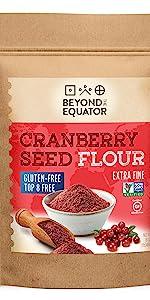 Cranberry seed flour