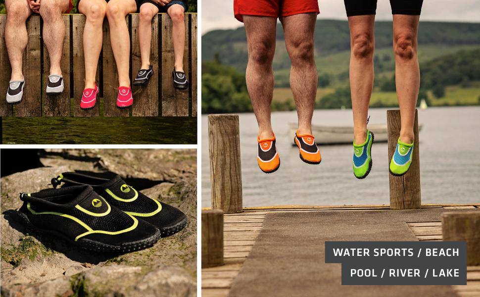 Womens aqua swim shoe lightweight outdoor swimming wild durable non-slip stretchy beach pool comfy