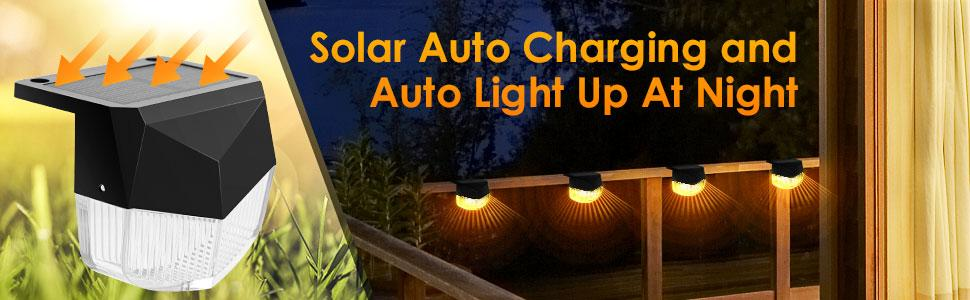Solar Auto Charging and Auto Light Up At Night