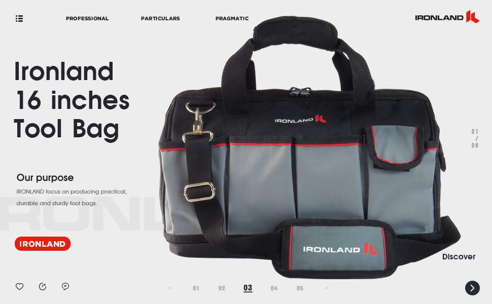 16 inches tool bag