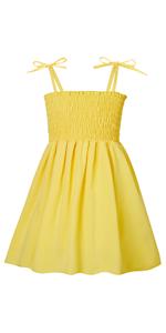Toddler Girls Children Sundress 3T 4T Kids Princess Summer Dresses Sleeveless Yellow Dress
