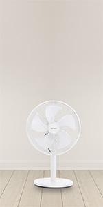 ventilateur sur pied silencieux avec telecommande brumisateur minuterie hummidificateur blanc VASNER