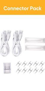 Connector Pack for shine decor led strip lights