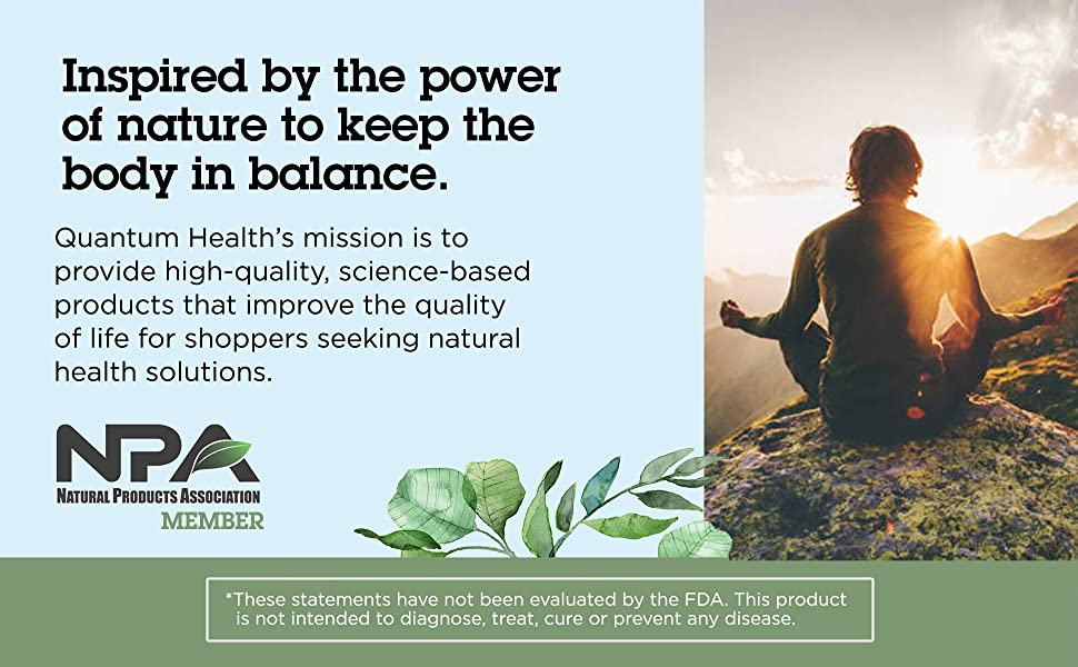 Image: Inspired by the power of nature to keep the body in balance.
