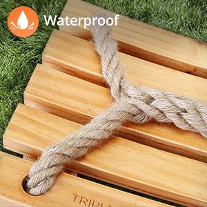 waterproof wooden swing