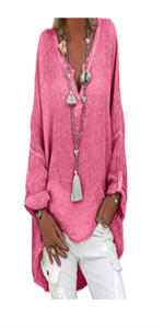 Sweater Plus Size Long Pullover Tops