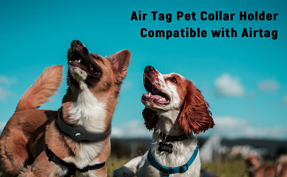 Air Tag Dog Pet Collar Holder Airtag Necklace