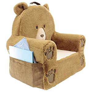 Soft Landing Kids - Premium Character Chair with Carrying Handle amp; Side Pockets