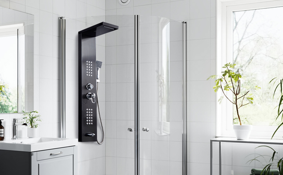 Wall Mounted Shower Massage Panel With Multi Shower Functions