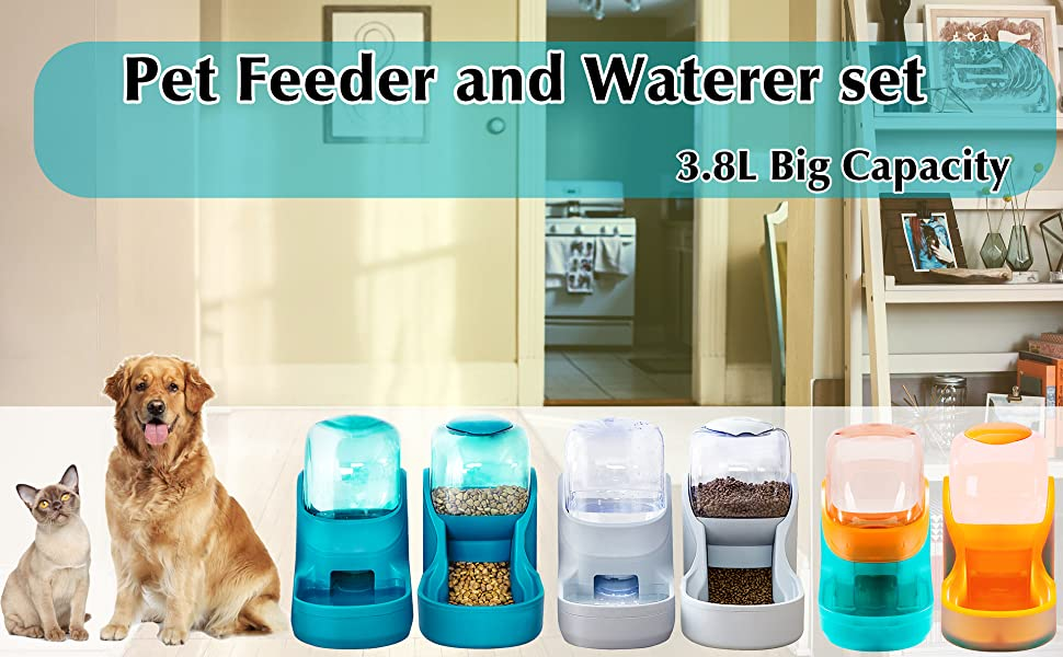 Pet feeder and waterer