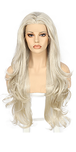 Blonde body wave lace front wigs