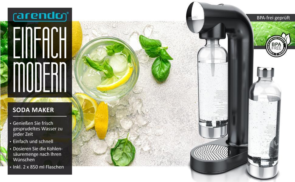 Machine à gazéifier avec 2 bouteilles d'eau 850 ml pour animal domestique - Carbonateur - Sans BPA - Dosage fin