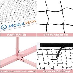 Pickle-Tech Pickleball Net Pink
