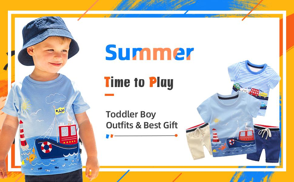Toddler Boy Summer Shorts Sets