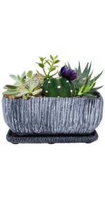 """9"""" cement rectangle planters pots window box"""