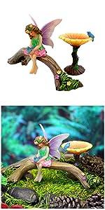 fairy garden kit set fairy birdbath supplies accessories miniature indoor outdoor whimsical sitting