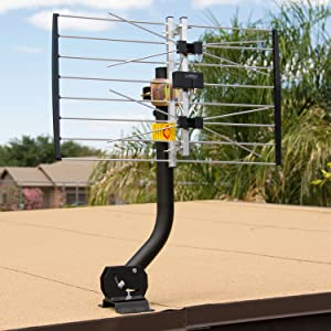 Universal Antenna Mount on a flat roof