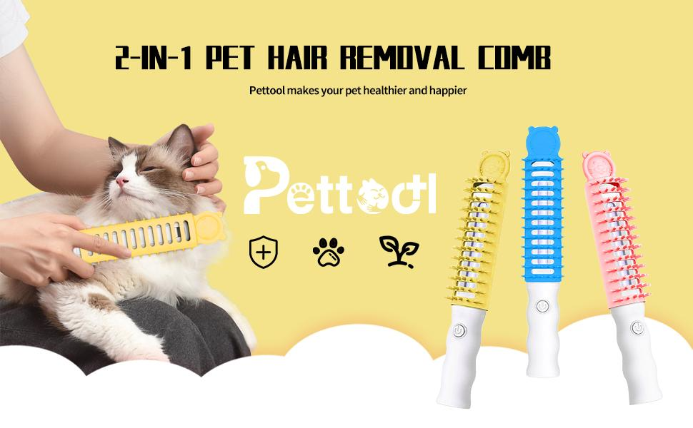2 in 1 pet hair removal comb