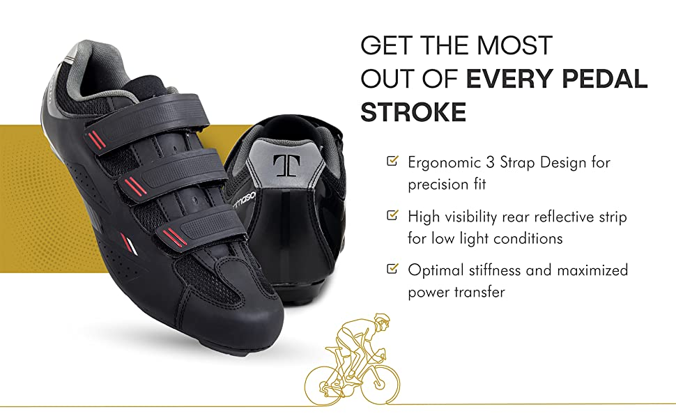 Get the most out of every pedal stroke men's cycling shoes road bike spin