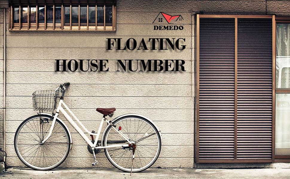 modern metal house number