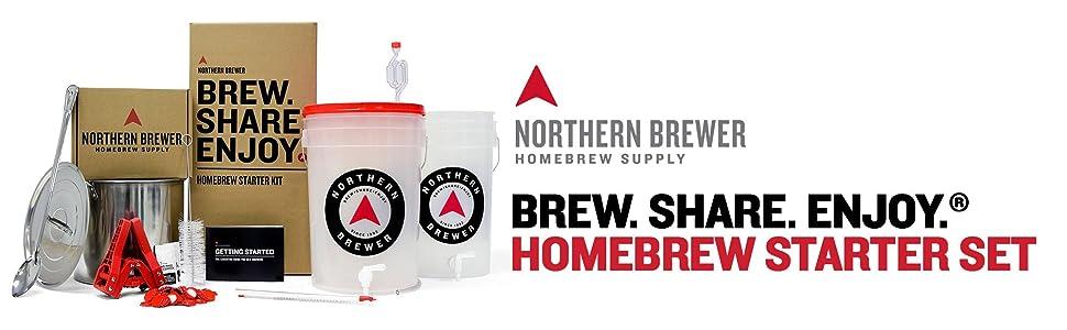 Northern Brewer Brew Share Enjoy Homebrew Starter Set