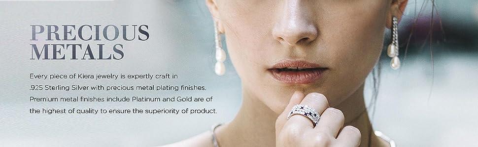 silver drop pearl earrings