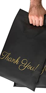 black packaging bags shipping bags with handle poly mailers poly bags ship mailers