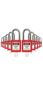 Padlocks Red 1 key