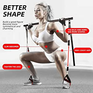 Professionele Pilates Bar Kit