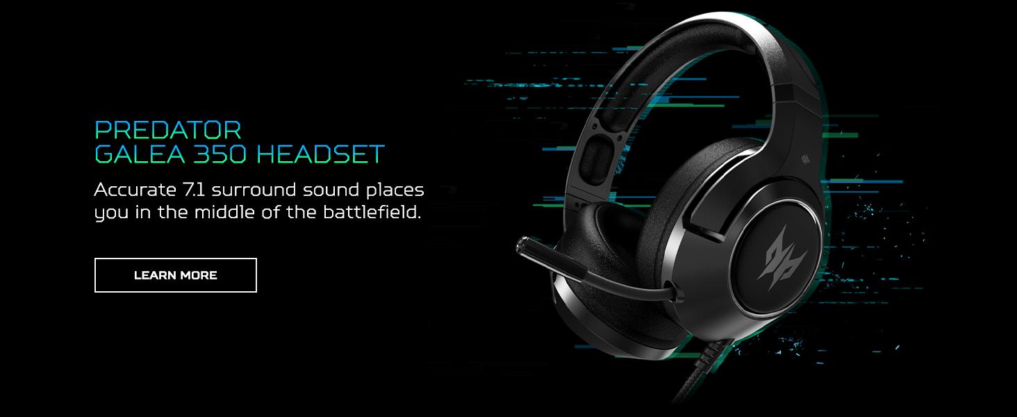 predator galea 350 headset earset headphones surround sound mic microphone comfortable