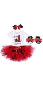 Ladybug themed 1st birthday party supplies lady bug 1st birthday outfits girls baby