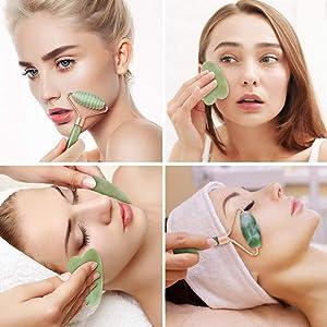 4 In 1 Ice Roller Jade Roller Gua Sha Massage Massage