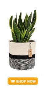 Jute Rope Plant Basket Modern Woven Basket for 10amp;amp;amp;#34; Flower Pot Floor Indoor Planters