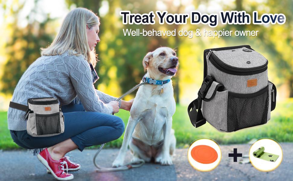 Hundebehandlungs-Trainingsbeutel mit mehreren Taschen