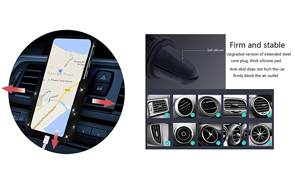 LYCARESUN Bling Car Phone Mount