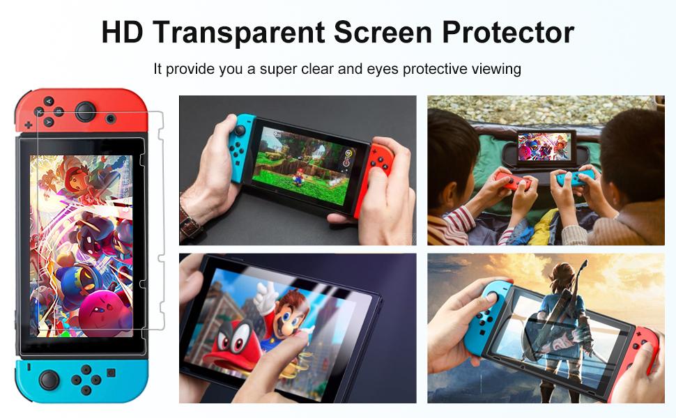 nintendo switch screen protectors