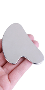 Gua Sha Facial Tool - Stainless Steel Guasha Tool for Face