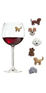 Dog Magnetic Wine Charms comparison image for grid chart