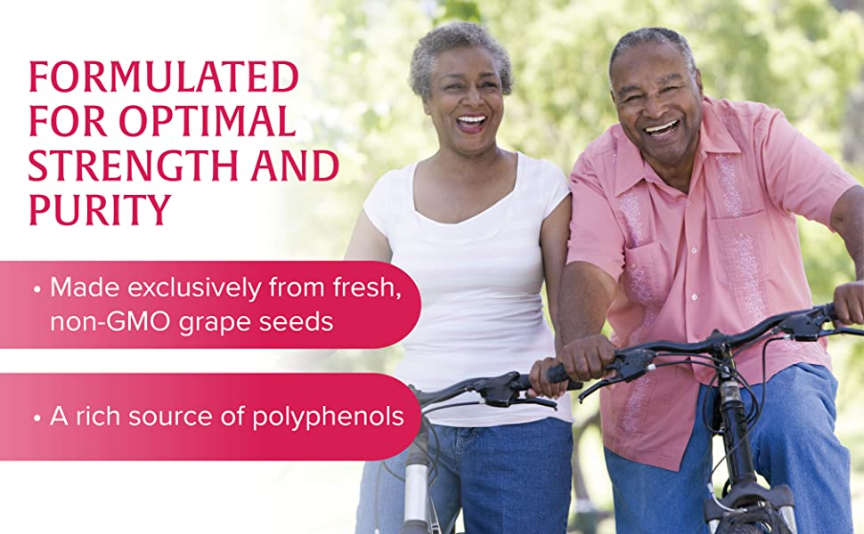 Formulated for optimal strength and purity. Made exclusively from fresh, non-GMO grape seeds