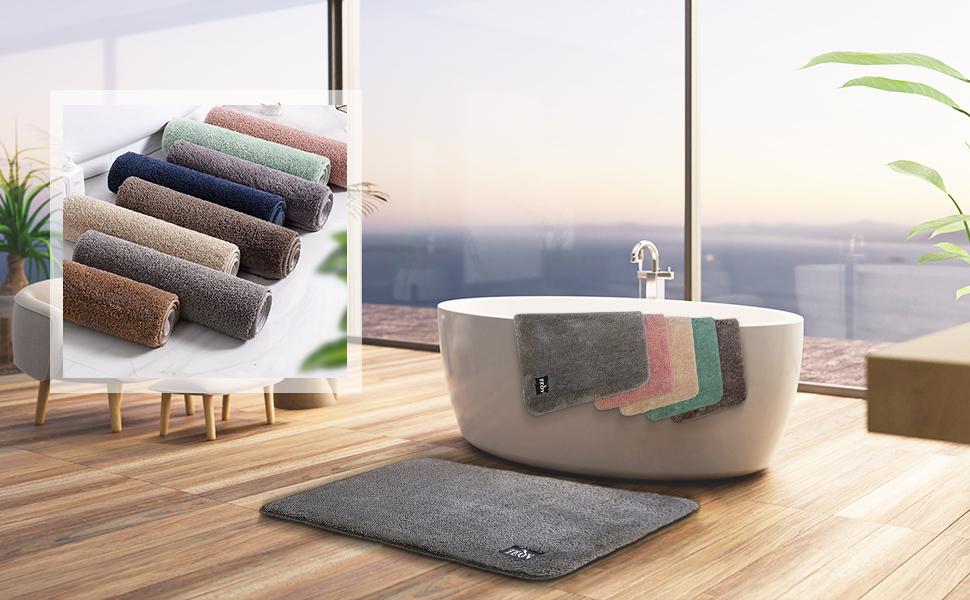 teov badrumsmatta med många färger och många storlekar