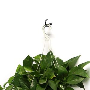 schroefhaken zwart voor hangende plant