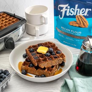 Crispy Grain-Free Pecan Waffles