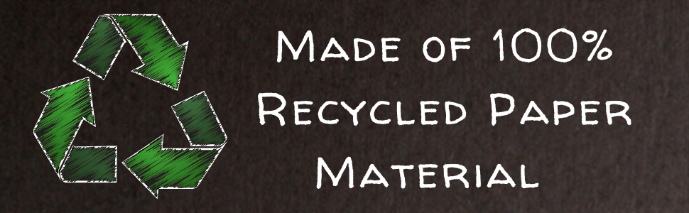 Made of 100% recycled paper material